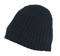 Beanie hat black thermal winter hat (H251-HT511575)